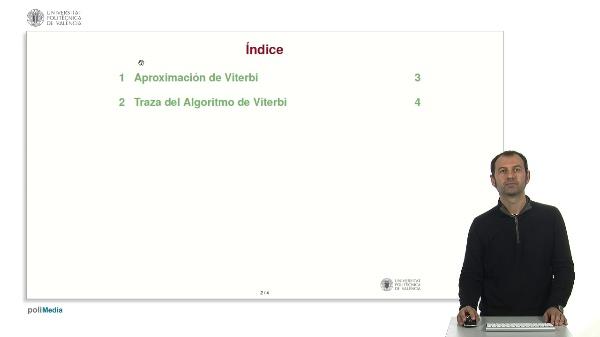 Modelos ocultos de Markov: Traza del Algoritmo de Viterbi