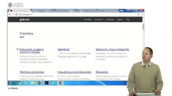 Buscar en Internet. Información administrativa México