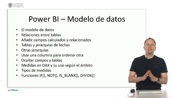 MOOC Power BI. Índice tema Modelado