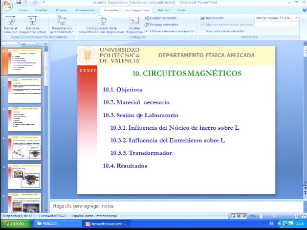 Clase del 25-04-2012