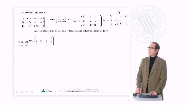 Clasificación de sistemas de ecuaciones (ejemplos)