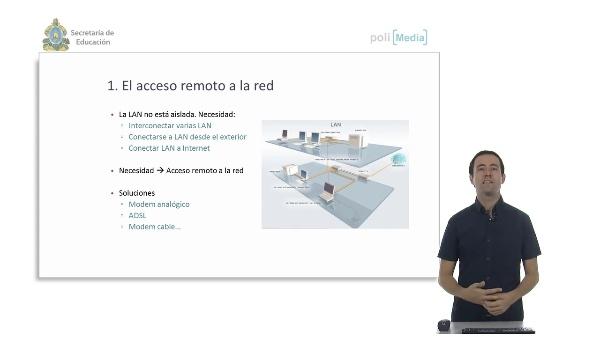 Dispositivos específicos de red. Acceso remoto a la red.