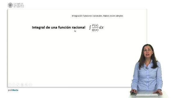 Integración de funciones racionales. Raíces reales simples