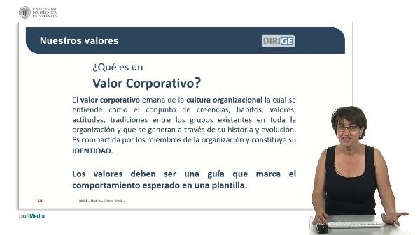 Valores y compromisos de la empresa