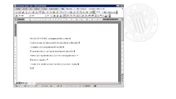 Ejercicio 2 - Formatear desde barra