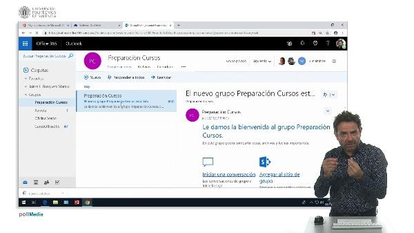 Almacenar archivos en grupos de Office 365