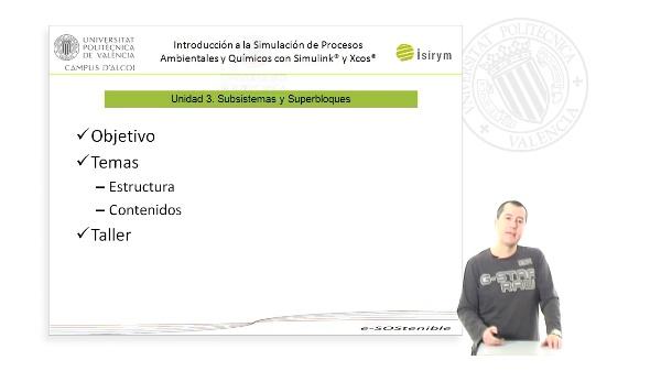 Presentación Unidad 3. Introducción a la Simulación de Procesos Ambientales y Químicos con Simulink¿ y Xcos¿