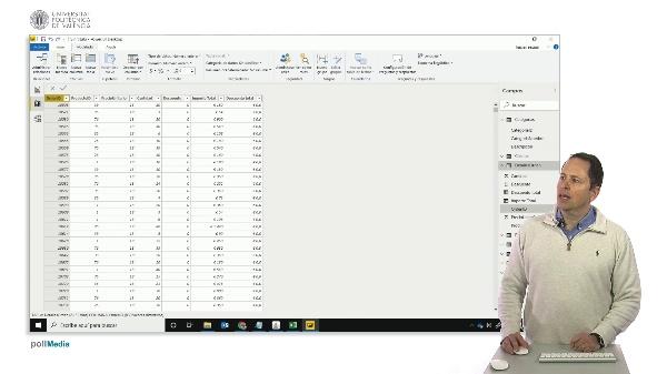 MOOC Power BI. Campos añadidos en modelado con related