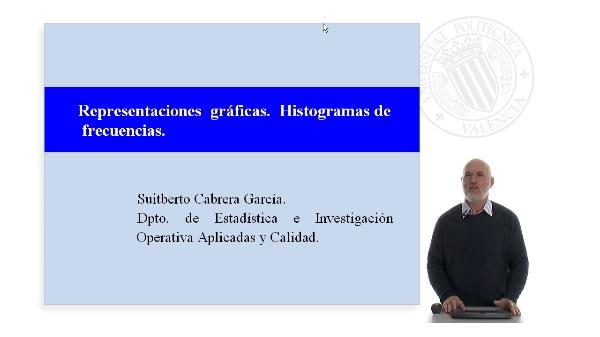 Representaciones gráficas. Histogramas de frecuencias