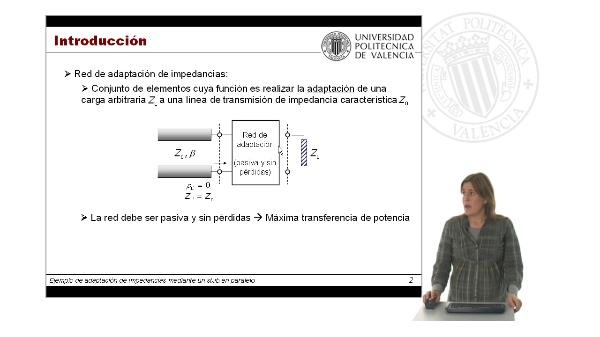 Adaptación de impedancias mediante un stub en cortocircuito en serie empleando la Carta de Smith