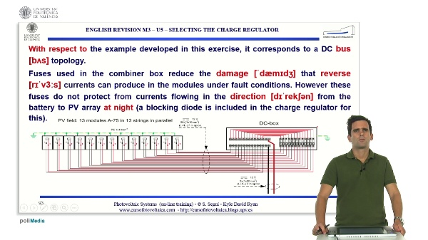 M3.U5.3. Selecting the charge regulator. English Grammar / spelling revision