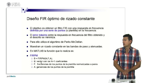 Diseño de filtros FIR de rizado constante