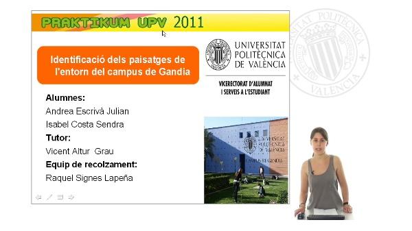 Identificació dels paisatges de l'entorn del Campus Gandia. Parte I.