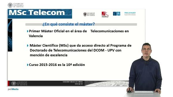 Master en Tecnologias, Sistemas y Redes de Comunicaciones