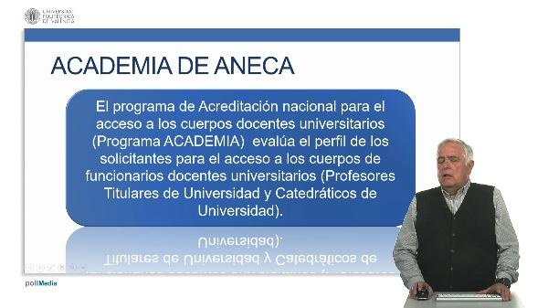 Acreditación. Programa Academia.