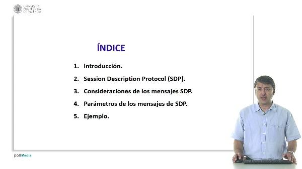 Parámetros generales utilizados en el protocolo SDP