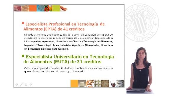 Curso Especialista en Tecnología de Alimentos