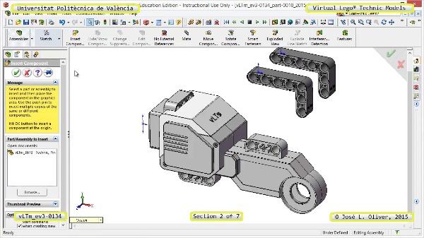 Creación Virtual Modelo Lego Technic - Isogawa ¿ ev3-0134 ¿ 2 de 7