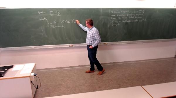 Matemáticas I-24-2-Ejemplo 2 Determinar si la serie converge por el criterio de leibniz y monotonia