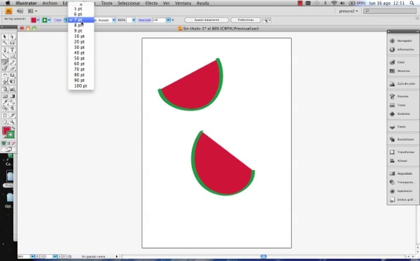 Adobe Illustrator herramienta pincel parte1