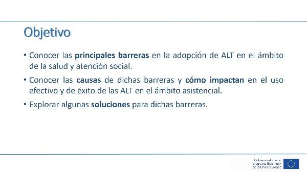 Unidad 4 - Lección 2 - Barreras en la adopción de ALT