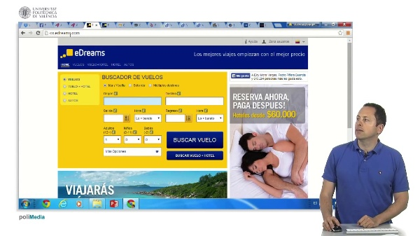 Buscar en Internet. Planificar un viaje. Latinoamérica