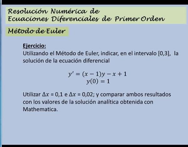 MN-EDO-03-10 Método de Euler. Ejercicio 1