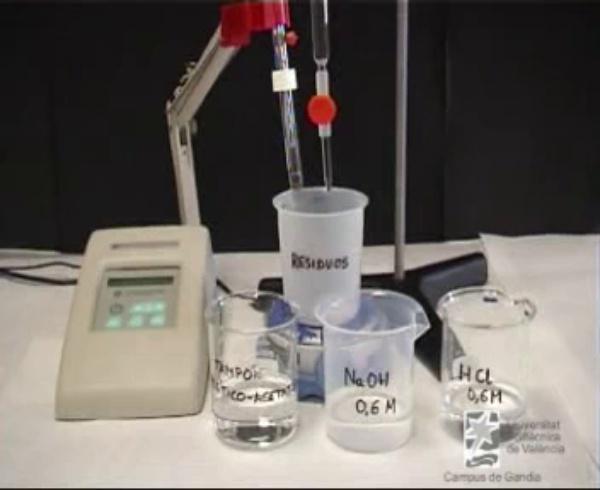 Determinació de la Capacitat Amortidora d'una dissolució tampó acetic/acetat