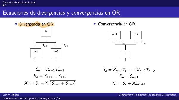 Implementación de divergencias y convergencias