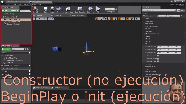 Unreal Engine - Inicialización de componentes