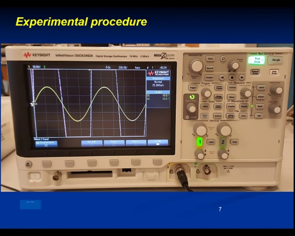 Electricity Lab P1-Oscilloscope video 2
