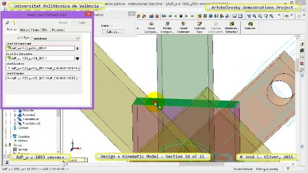 Creación Virtual y Simulación Mecanismo a-z-1093 con Cosmos Motion - 10 de 11
