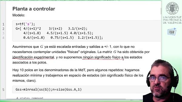 Analisis de propiedades y controlabilidad entrada-salida de un sistema 3x3