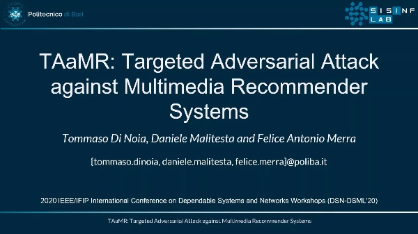 TAaMR: Targeted Adversarial Attack against Multimedia Recommender Systems