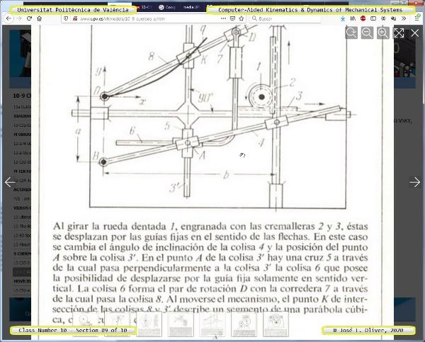 Mecánica y Teoría de Mecanismos ¿ 2020 ¿ MM - Clase 10 ¿ Tramo 09 de 10