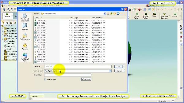 Creación Virtual Mecanismo a_4_0963 con Solidworks - 3 de 3