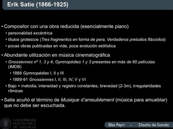 Erik Satie y la música incidental