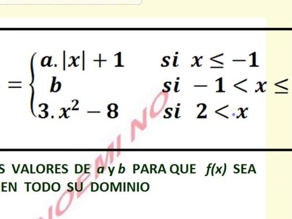 Continuidad - Cálculo de parámetros para lograr continuidad en funció a trozos - Parte 1