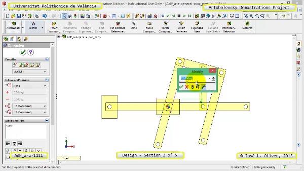 Creación Virtual Mecanismo a-z-1111 con Solidworks - 3 de 5