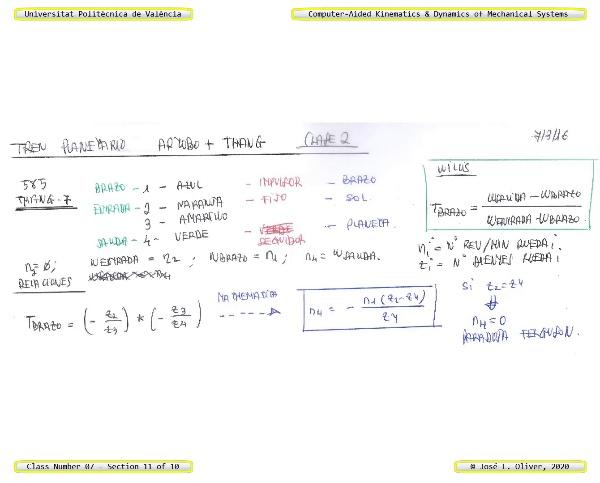 Mecánica y Teoría de Mecanismos ¿ 2020 ¿ MM - Clase 07 ¿ Tramo 11 de 10