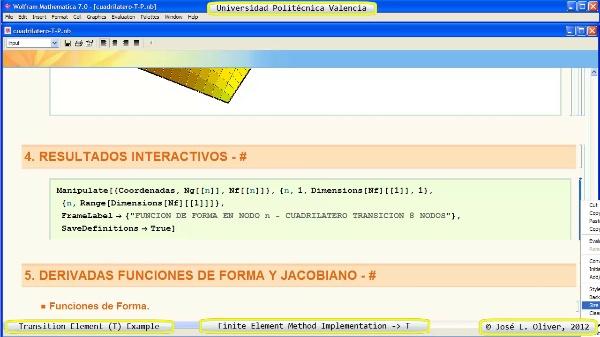 Funciones de F e Implementacion Cuadrilatero Transición 8 nodos con Mathematica