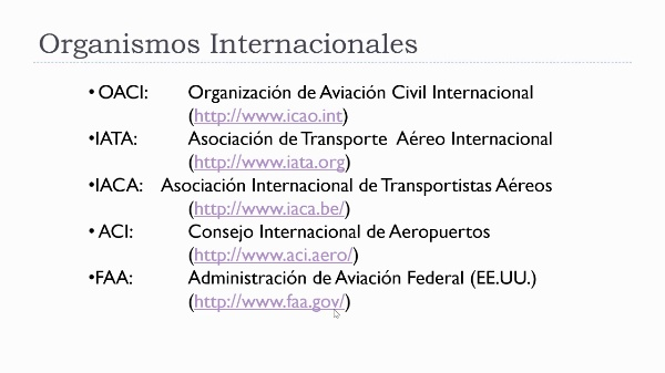 Organismos relacionados con el transporte aéreo