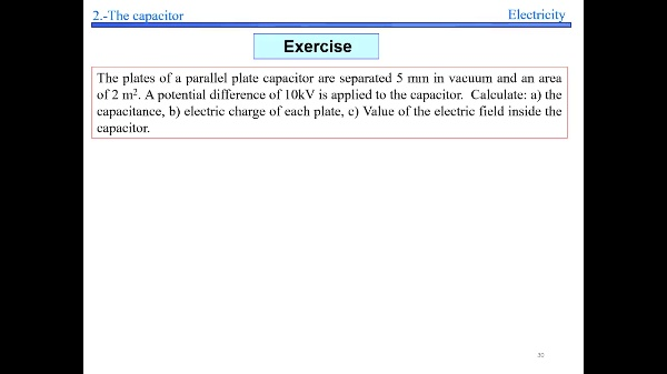 Elec 2- Electric Field in capacitor Example S30