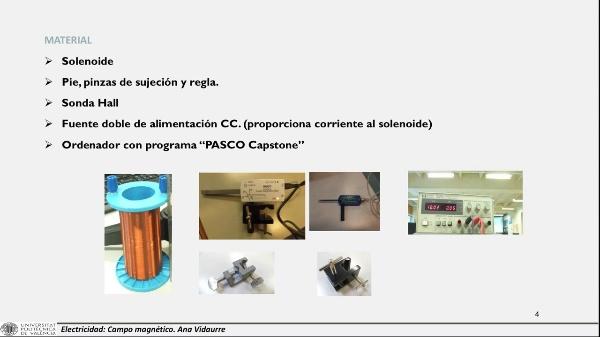 Determinación experimental del campo magnético creado por un solenoide