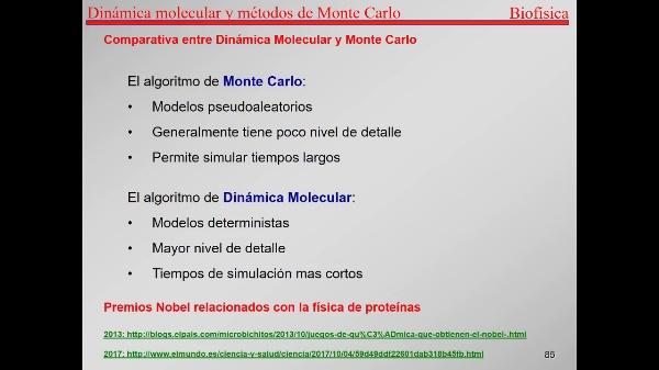 7.-Proteínas T85-T86-comparativa Monte Carlo Dinámica Molecular