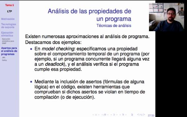 LTP. Tema 5. Asertos para el análisis de programas