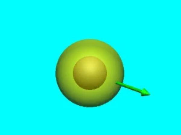 GaussE_3: Campo eléctrico sobre la superficie exterior a un conductor esférico sobre la que se aplicará el teorema de Gauss