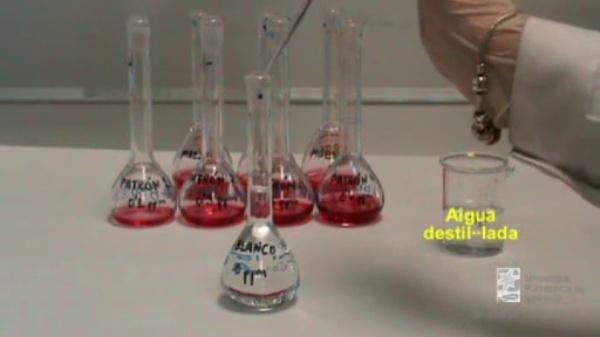 Determinació de nitrits en mostres d'aigua: preparació de disolucions