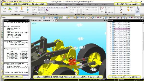 Simulación Dinámica de Cargadora Volvo L70C con Recurdyn V8R5 - 03 de 10