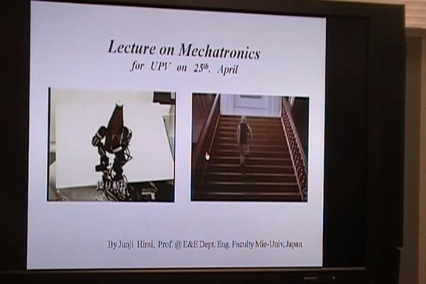 Conferencia Prof. Junji Hirai sobre Mecatronica